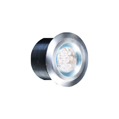 SPOT R50 12L 1,2W NW 15ο 12VDC CLEAR INOX IP65