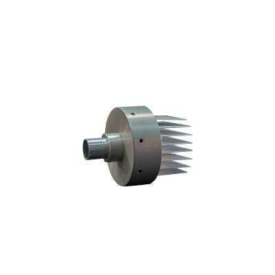 FIBER LED SOURCE 1L PL38 7W WW 10ο 12-24VDC ALU